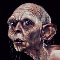 Gollum Painted Portrait