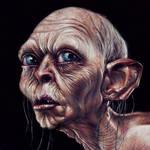 Gollum Painted Portrait