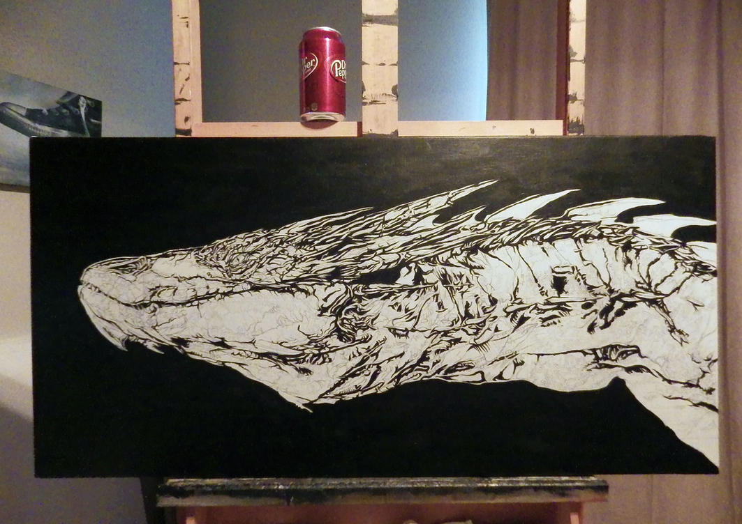 Smaug Painting work in progress by benke33