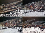 Smaug Painting work in progress (detail)