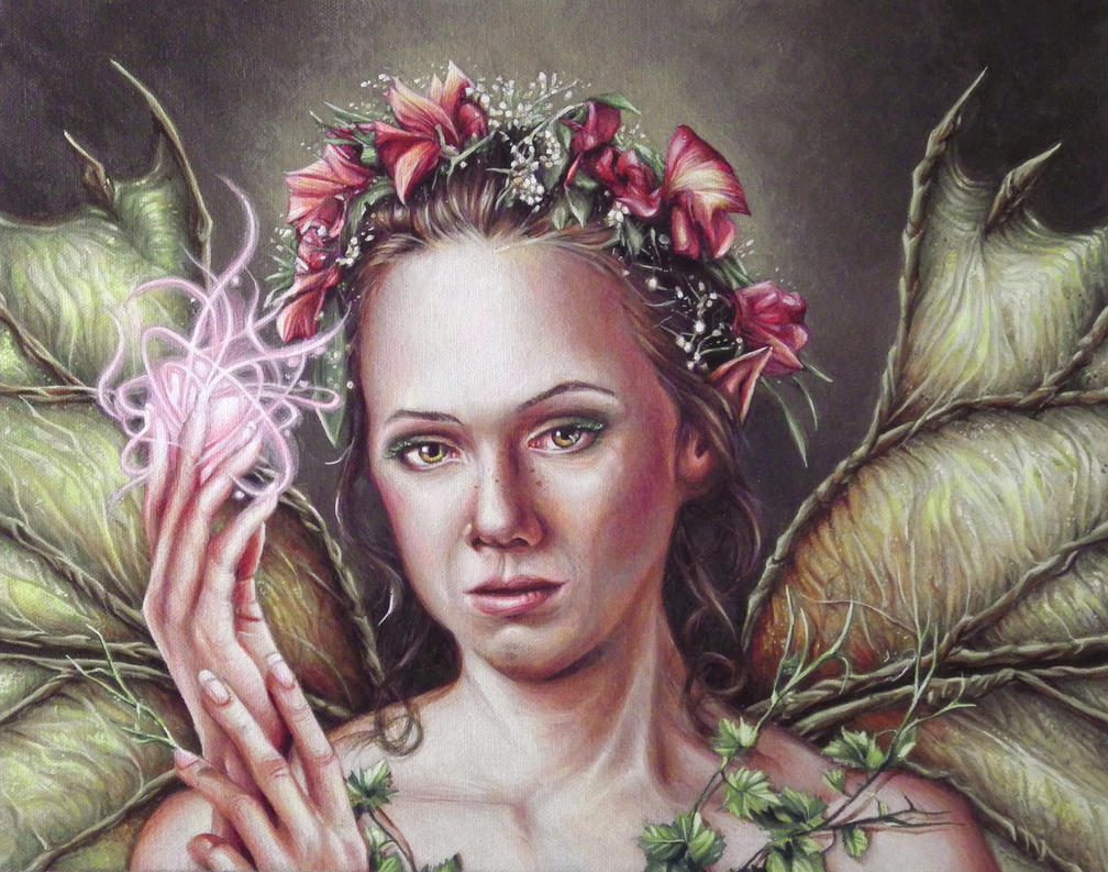 Tinkerbell Painted Portrait by benke33