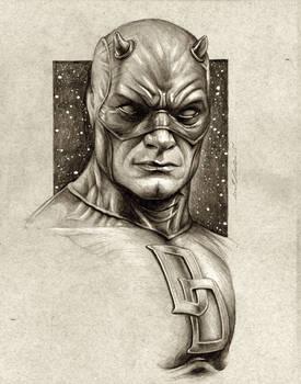 Daredevil Sketch Portrait