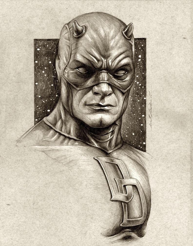 Daredevil Sketch Portrait by benke33