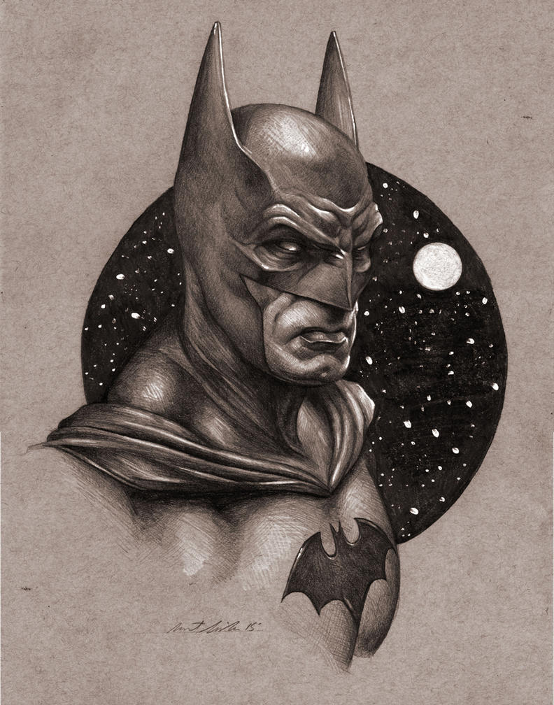 Batman Portrait Sketch by benke33 on DeviantArt