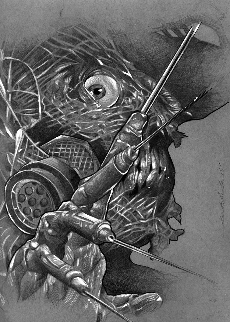 Scarecrow (Batman Villan) Sketch by benke33