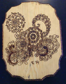 Henna Design Wood Burning