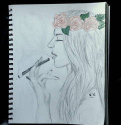 Smoking by TheBlondeDemonsCreed