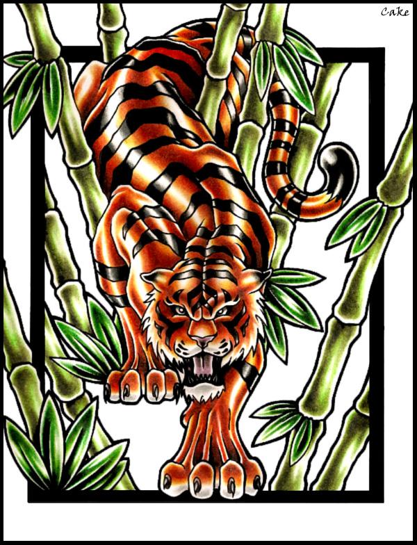 Tiger Tattoo Design By Cakekaiser On Deviantart