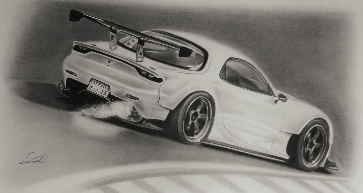 This is an image of Current Mazda Rx7 Drawing
