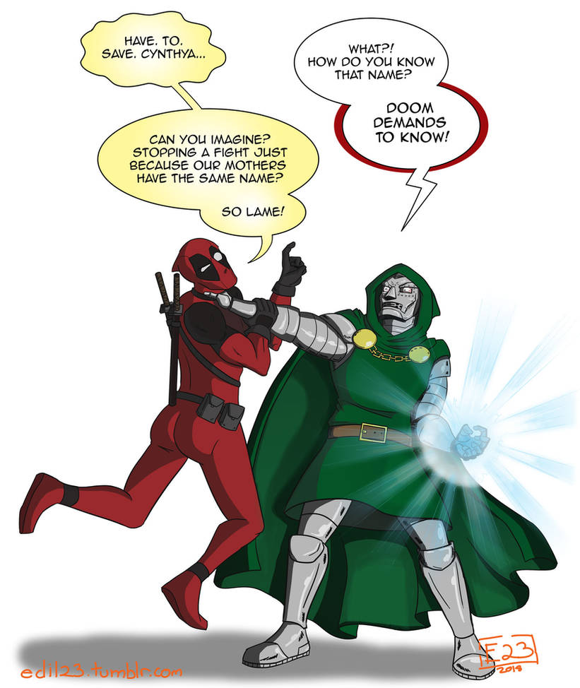 Deadpool vs. Doctor Doom by Edil23