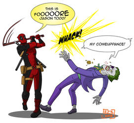 Deadpool vs Joker by Edil23