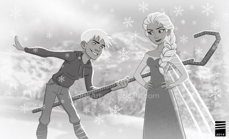 The Snow Queen and her Guardian by EadgeArt