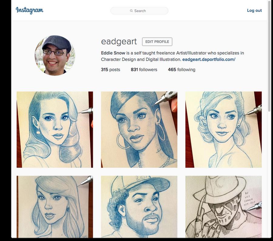 Follow Me on Instagram! by EadgeArt