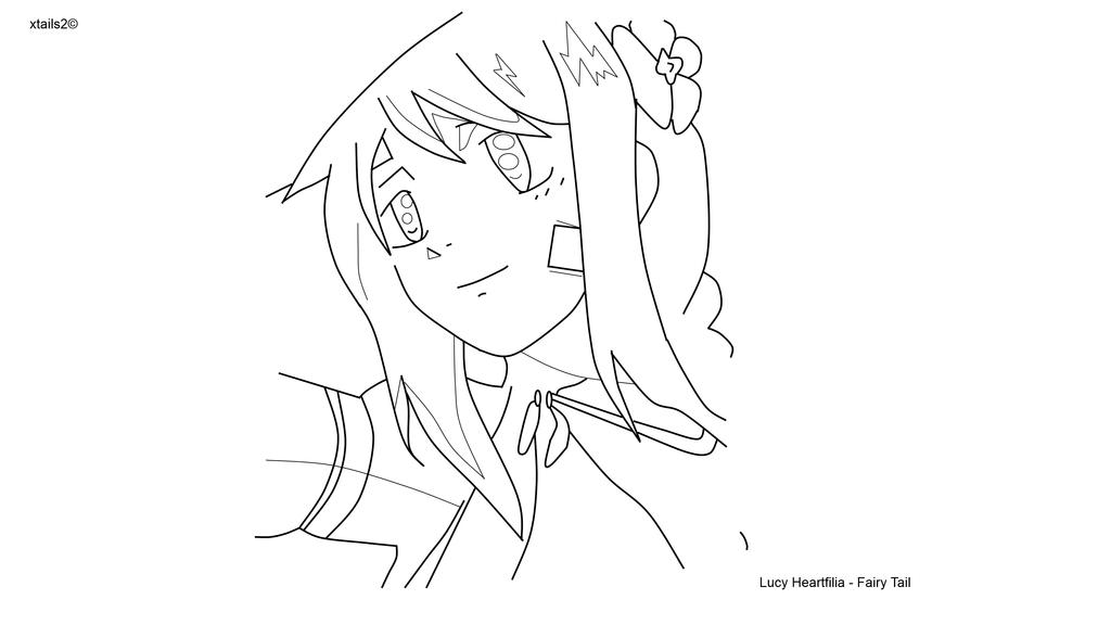 Fairy Tail Lucy Heartfilia Outline By Xtails2