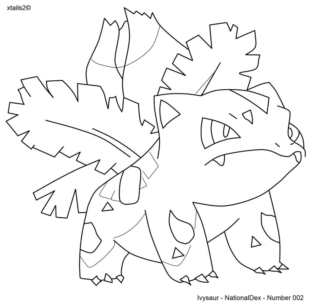 kleurplaten ivysaur ivysaur coloring page