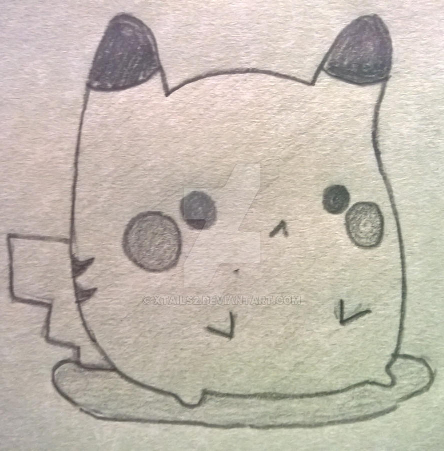 Cute Chubby Pikachu Drawing By Xtails2 On Deviantart