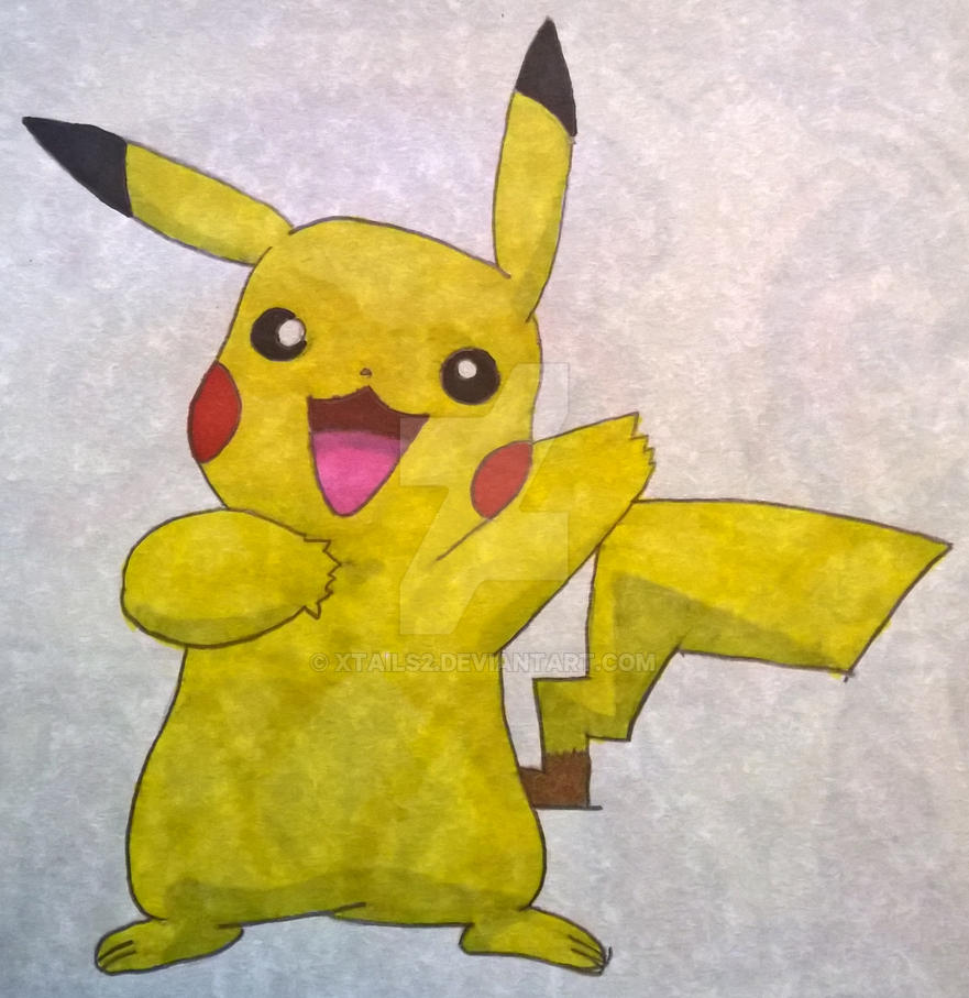 Pikachu Colour Drawing By Xtails2 On Deviantart Colour Drawing
