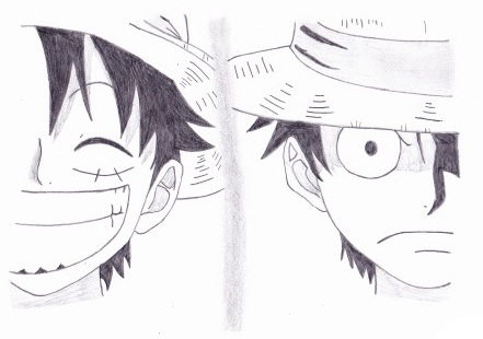 One Piece Episode 521 Monkey D Luffy Drawing By Hada Chan