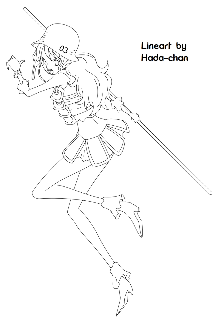 Nami Lineart : One piece film z nami lineart by hada chan on deviantart