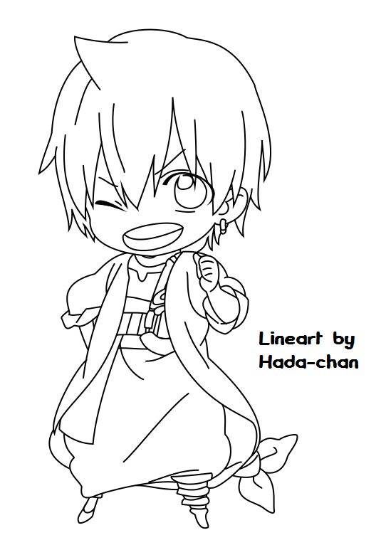 Alibaba Chibi Lineart By Hada Chan On Deviantart