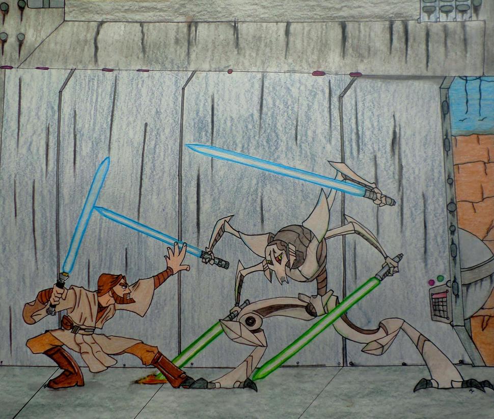 General Grievous vs Kenobi by Spartan-055