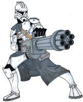 Heavy Gunner Clone Trooper by Spartan-055