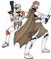 General kenobi and Commander Cody by Spartan-055