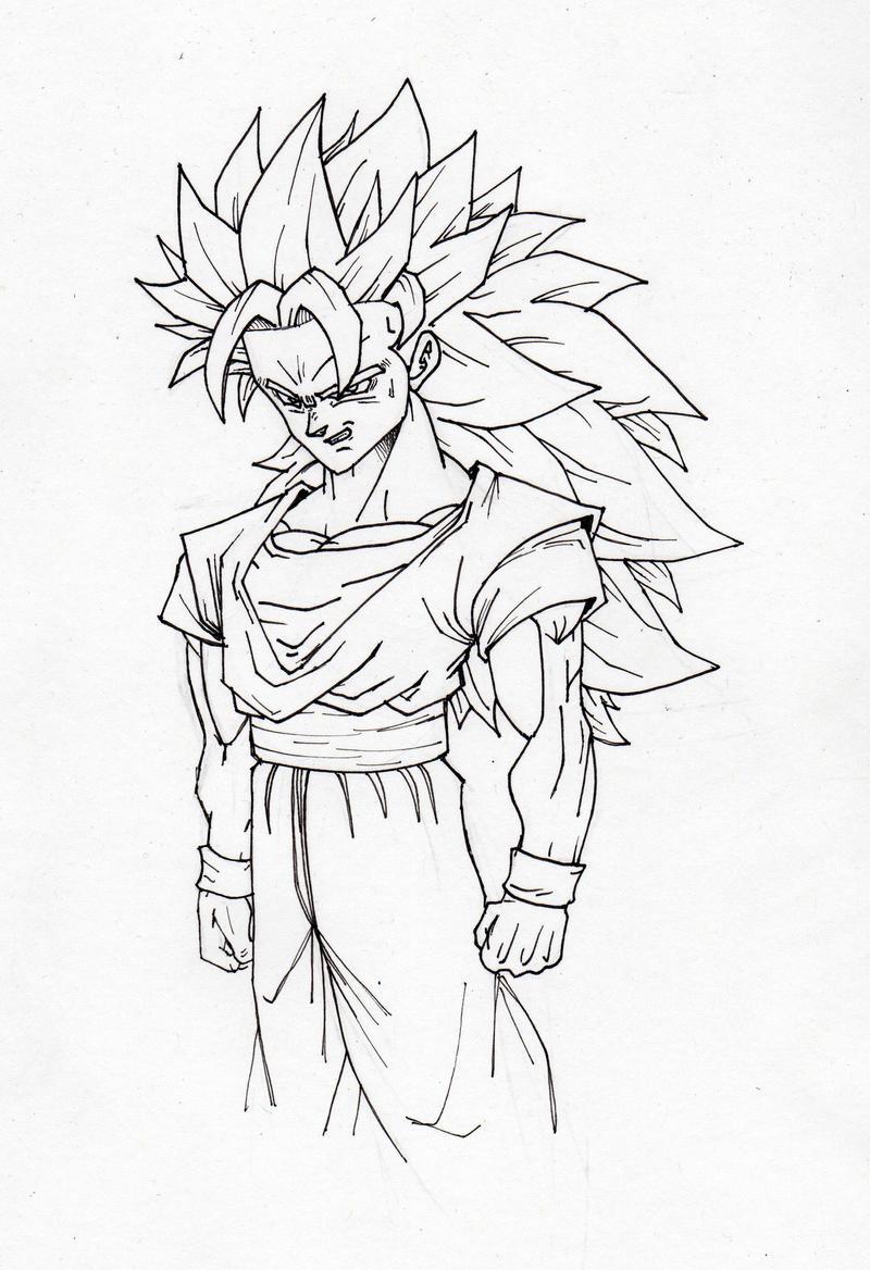 Goku Super Sayayin Fase 4 Para Colorear Coloriages à