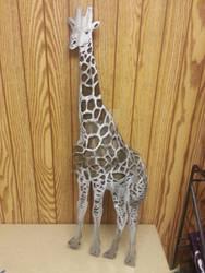 Giraffe metal wall art