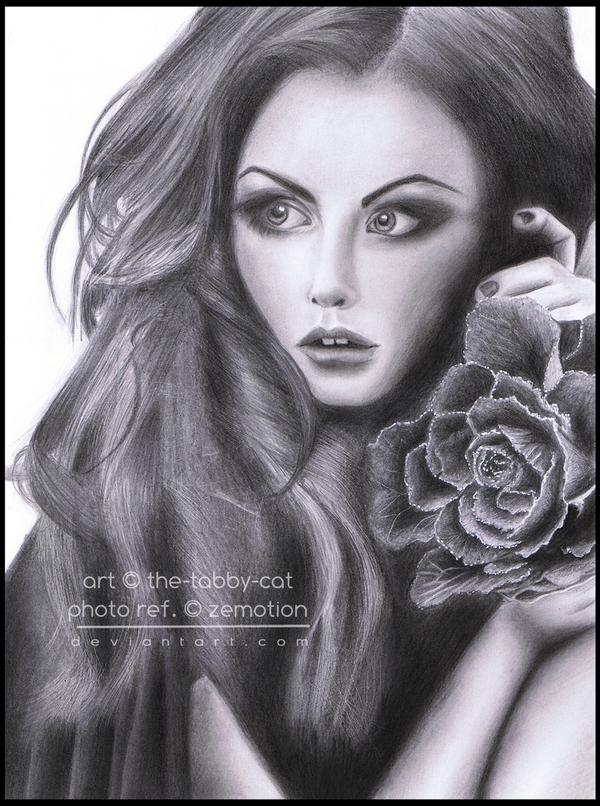 Lara - pencil drawing by The-Tabby-Cat