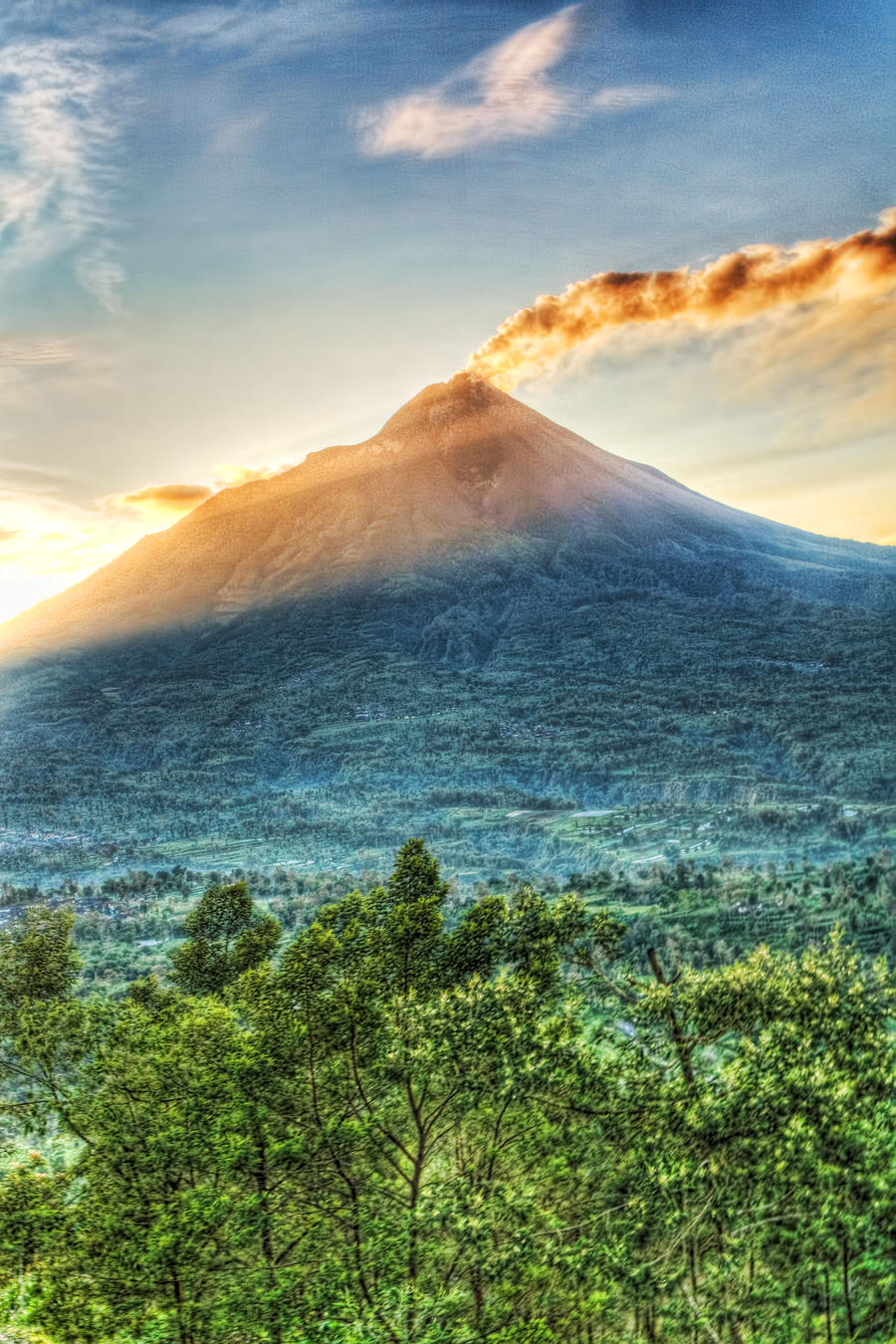 Merapi View HDR 01 by Zenstrive on DeviantArt