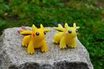 Pikachu-Dragon and Pichu-Dragon