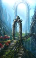 Fantasy landcsape by Flip-Fox