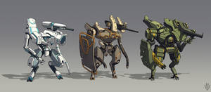 Mech concepts by Flip-Fox