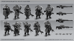 Postapocalyptic Sci-fi Hunter drafts