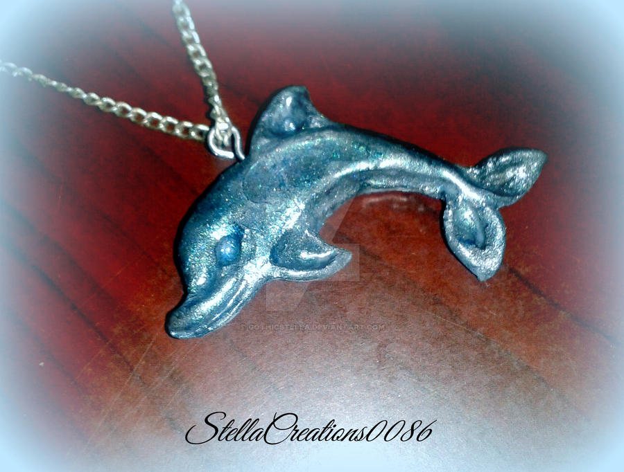 Dolphin charm-polymer clay by gothicstella