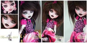 MH Draculaura repaint ~Alice~