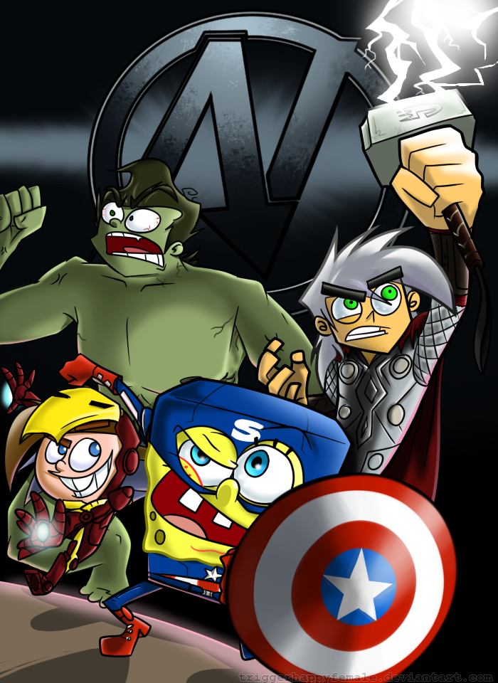 Nickvengers UNITE by TriggerhappyFemale