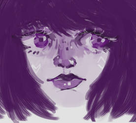 Redraws purplegirl by oceansigh