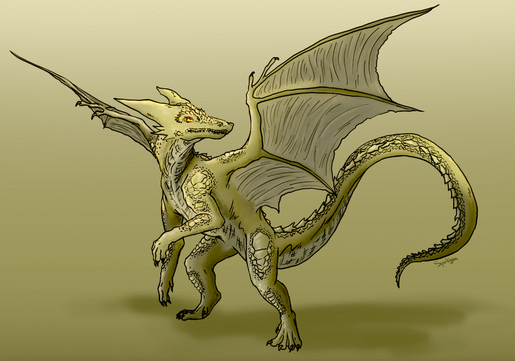 Dragon Design (Golden) by Sparkgon