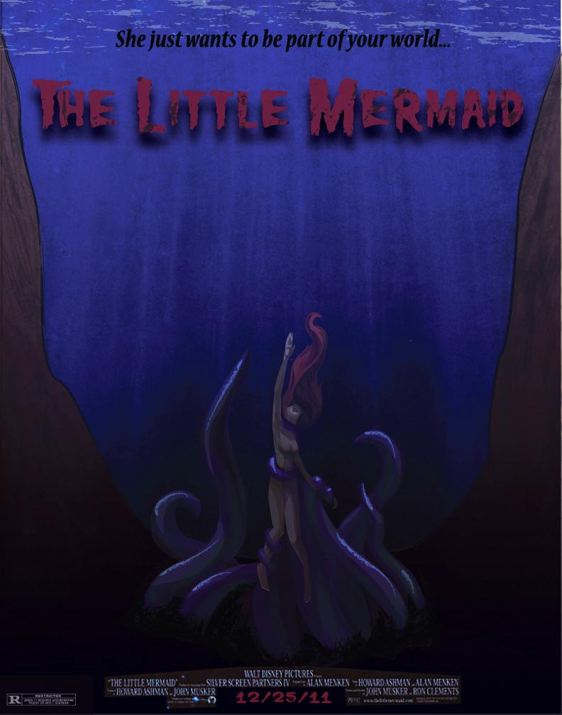 Little Mermaid Horror Poster by Shyrii on deviantART
