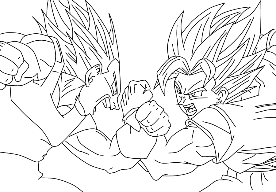 Goku Vs Boo Colouring Pages Goku And Vegeta Free Coloring Pages ...