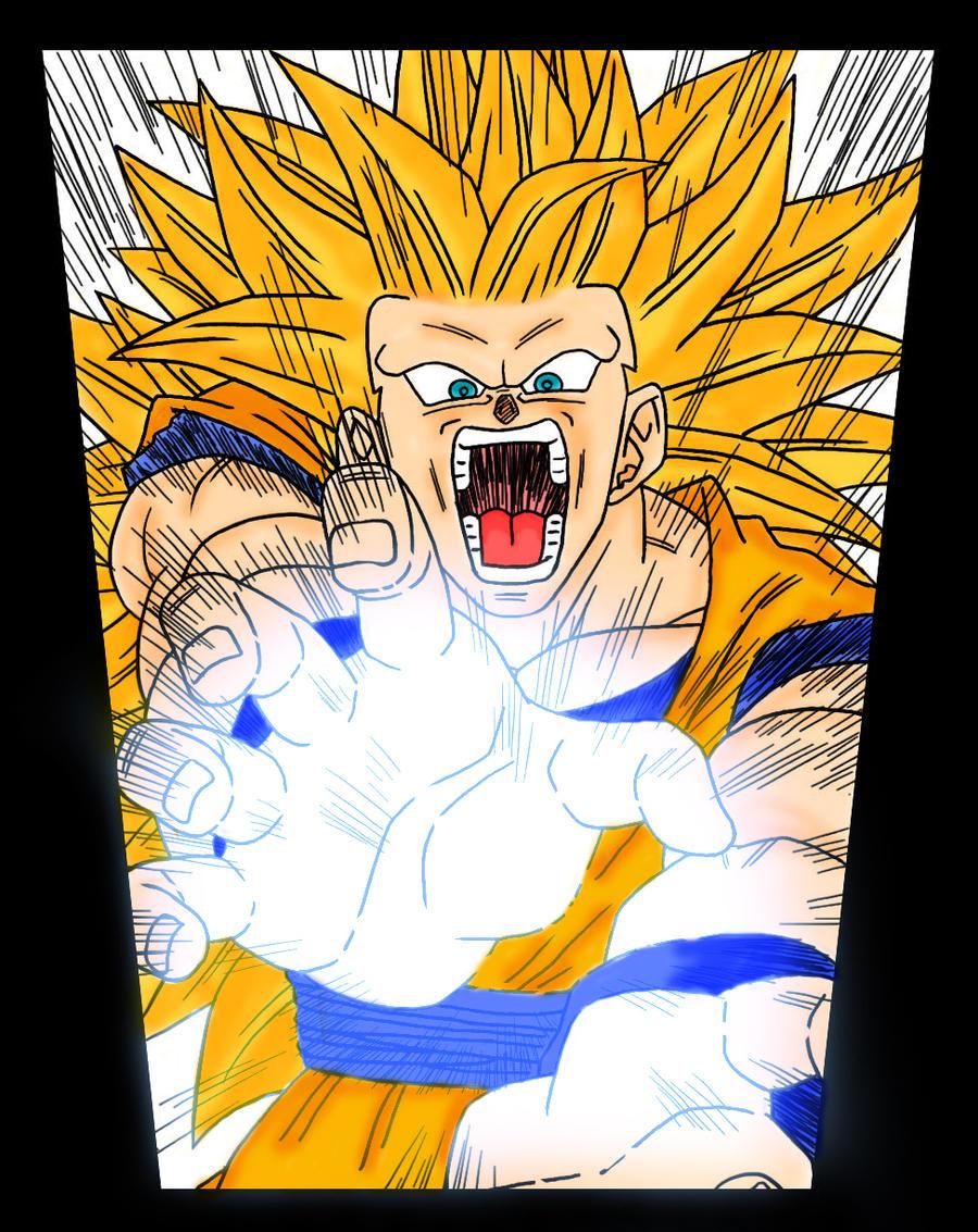 Goku ssj3 kamehameha by DPL1 on DeviantArt