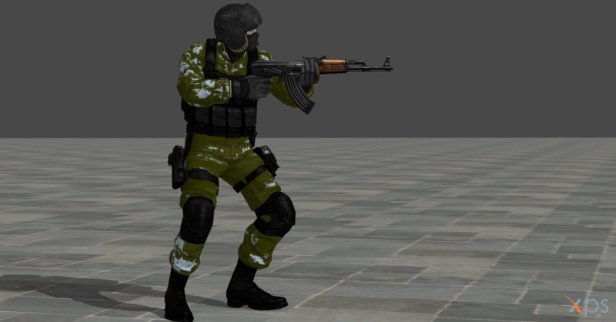 my first reskin of soldier 1 by GGX-444