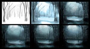 Mystical forest process