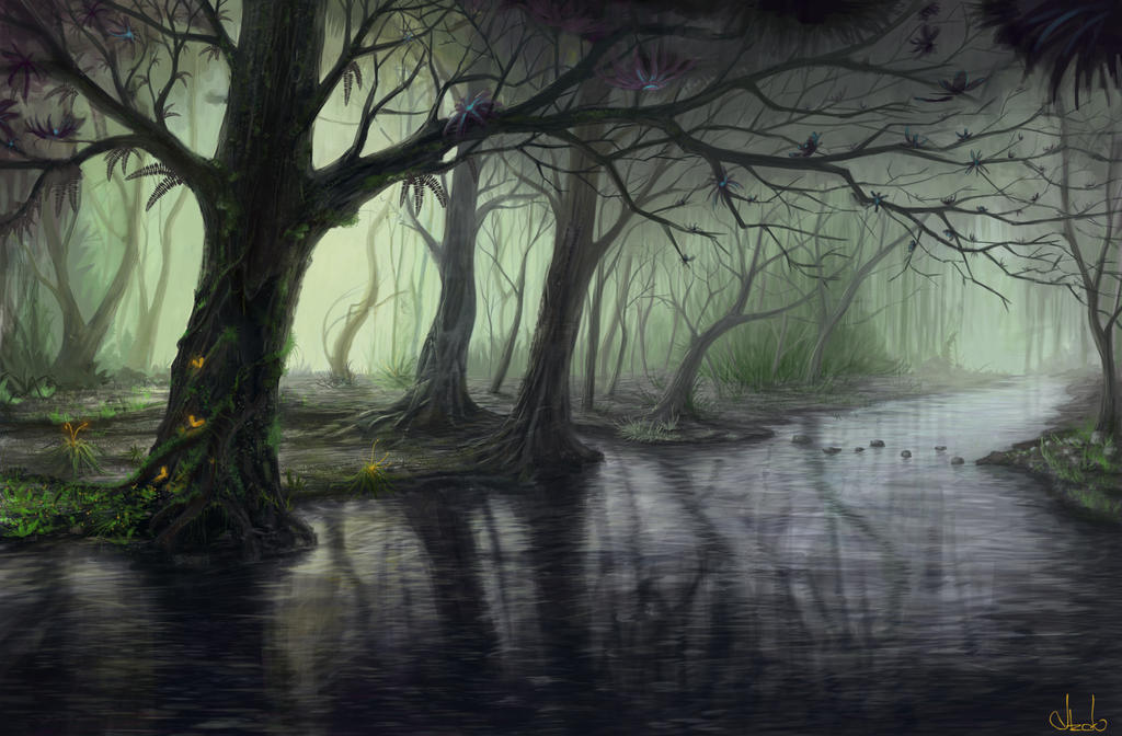 Fantasy forest by Azot2017 on DeviantArt