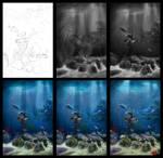 Underwater in process