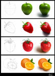 Fruits in process
