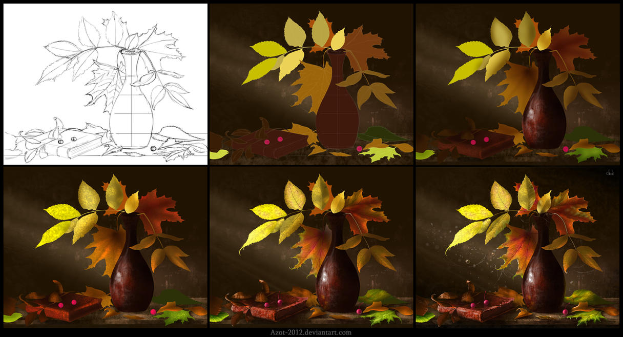 Leaves [Making of] by Azot2017