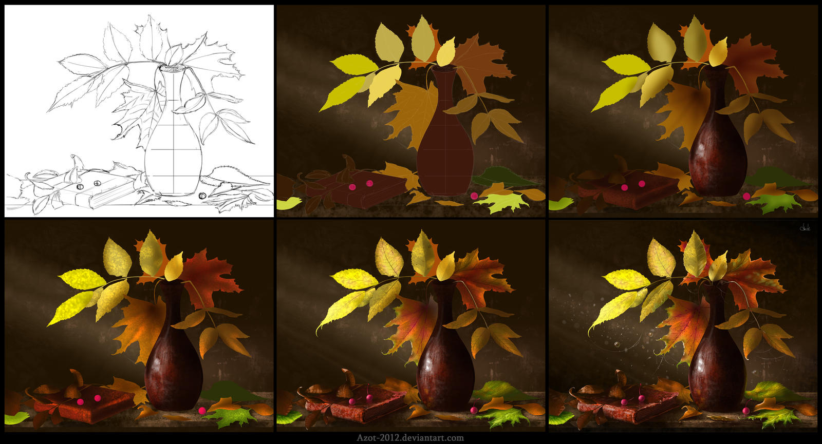 Leaves [Making of] by Azot2015